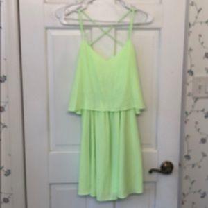 NWT bright green/yellow dress